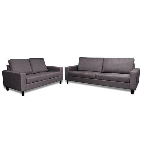 canapé 2 places et 3 places la boutique en ligne ensemble canapé gris foncé 2 places