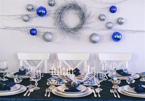 silver  blue hanukkah tablescape evite