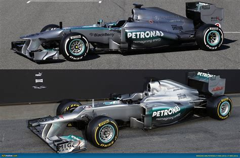 Even closer partnership between the performance specialists. AUSmotive.com » Mercedes AMG F1 W04 v F1 W03