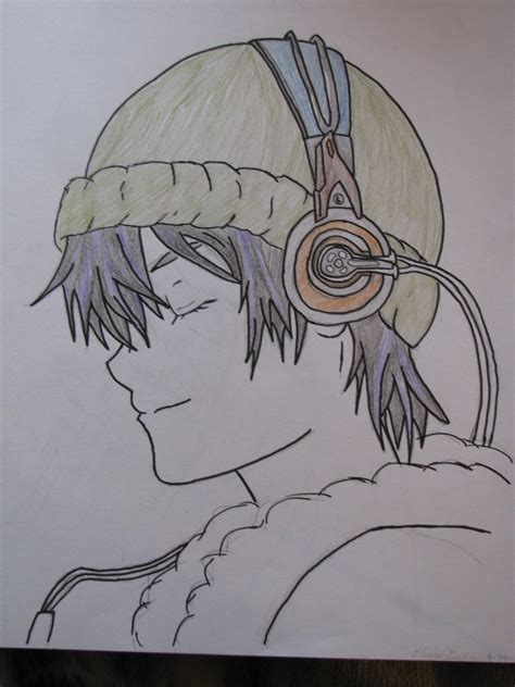 anime cool boy drawing cool anime boy with headphones drawing