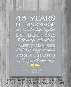 45th wedding anniversary gift customized by printsbychristine 20 00 happy anniversary - 45th Wedding Anniversary Gift