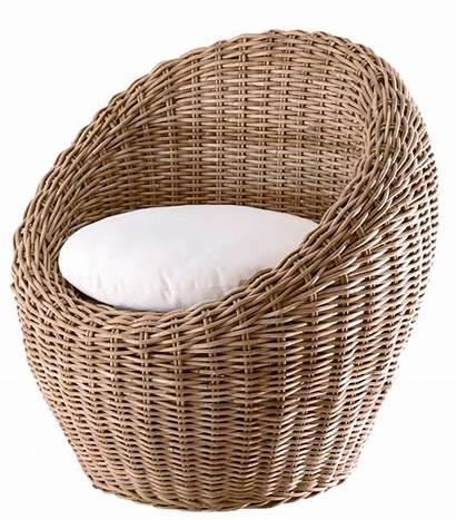 Chair Transparent Round Furniture Wicker Clipart Rattan