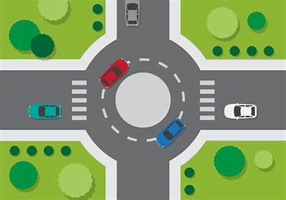 Roundabout Vector Road Traffic Vecteezy Clipart Cars