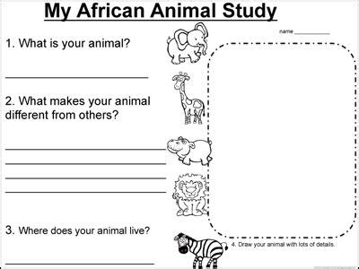 african animal lesson  informational textswith