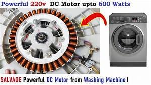 220v Dc Motor From Washing Machine Upto 600w Diy