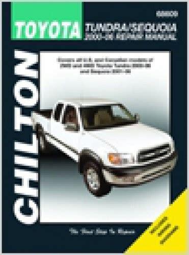 chilton car manuals free download 2003 toyota tundra auto manual chilton 2000 2006 toyota tundra 2001 2007 sequoia repair manual