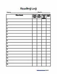 reading logpdf teacher stuff pinterest With google docs reading log