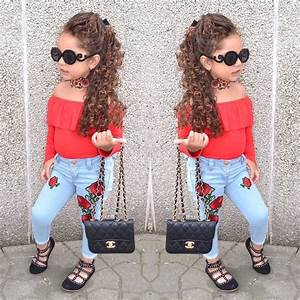 2017 Autumn Girls Cute Clothing Set Kids Red Shirt+Jeans Pants 2 piece/set Toddler Girl Clothing ...