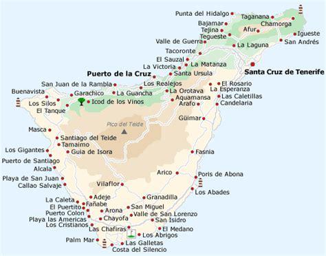 Karte Kanarische Inseln Umgebung