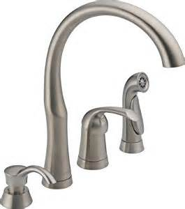 delta 200 kitchen faucet delta 11946 sssd dst bellini single handle kitchen faucet with spray and soap dispenser