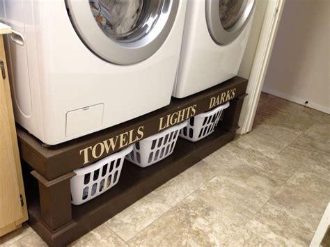 homemade washer  dryer stand washer  dryer