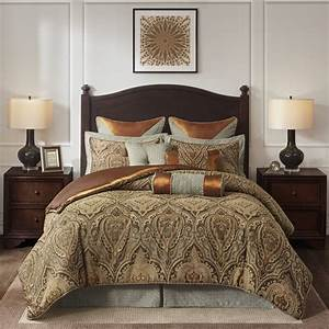 Hampton, Hill, Canovia, Springs, Damask, 9, Piece, Comforter, Set