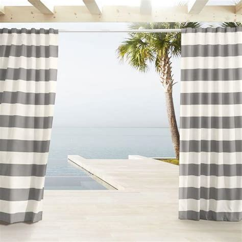 gray and white striped curtains outdoor gray and white stripe curtains