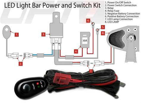diagram additionally led light bar relay wiring on