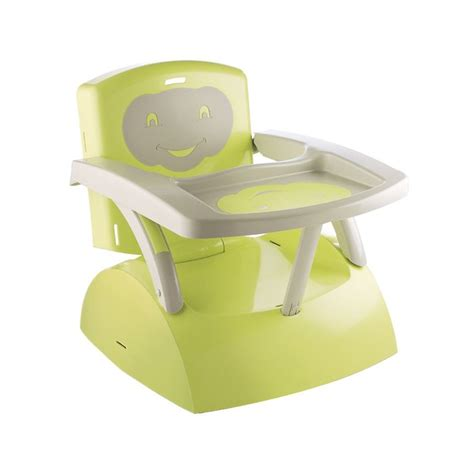 rehausseur chaise bebe thermobaby réhausseur de chaise babytop vert vert et gris