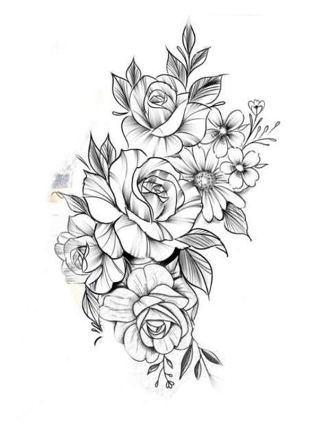 simple  easy flower drawings  beginners tattoos