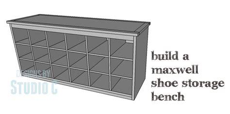 diy plans  build  maxwell shoe storage bench