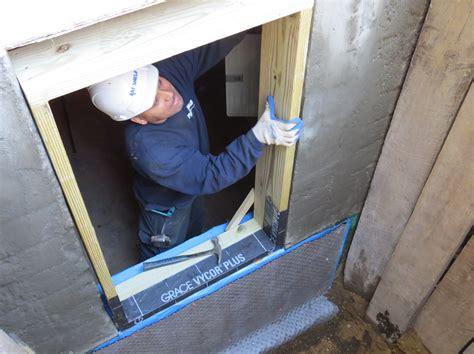 basement drain installing egress windows am shield waterproofing ny