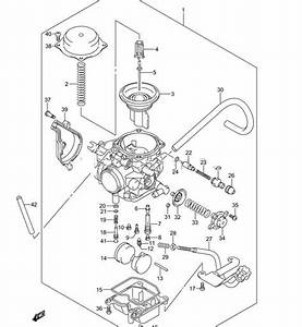 32 Suzuki Vinson 500 Carb Diagram