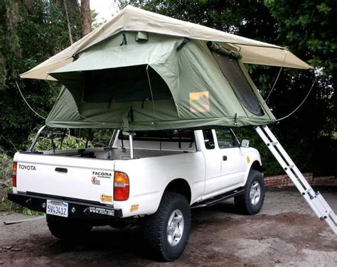 tacoma bed tent beefed rtt roof top tent safari rack tacoma world