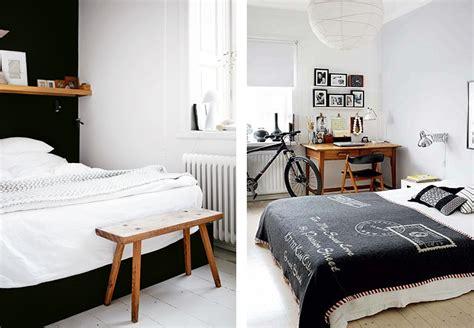 chambre blanche et bois une chambre en noir et blanc joli place