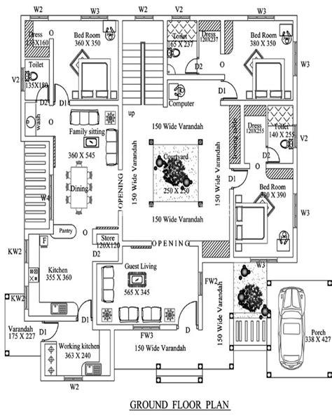 Photo  Kerala Nalukettu House Plans Images Four Bedroom