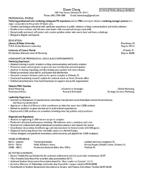 student resume exles skills for a manager fast online help format of resume for sales marketing