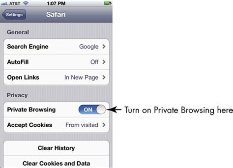 how to turn on cookies on iphone browsing and cookie settings on your iphone 4s
