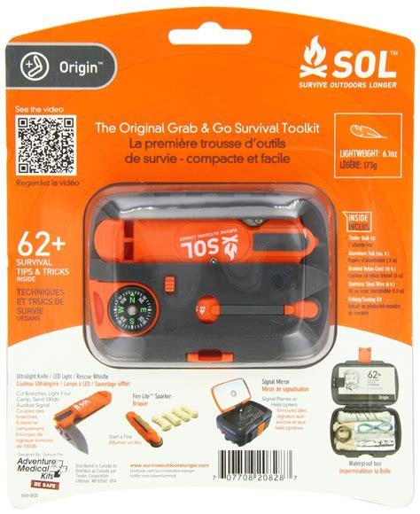 Fail Safe Lighting sol origin survival kit and essential survival tools