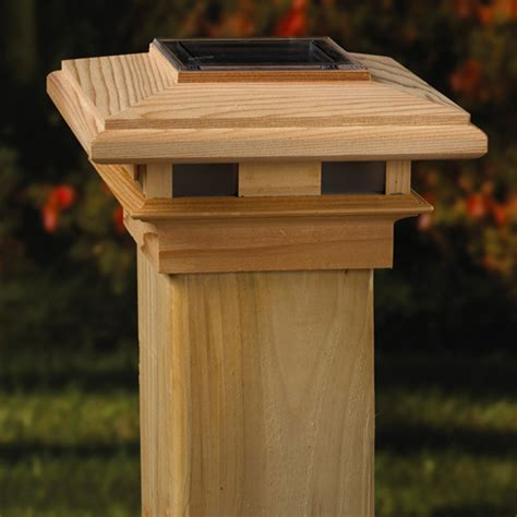 imperial wood solar post cap 4x4 6x6