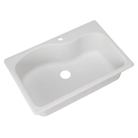 white single bowl kitchen sink franke dual mount composite granite 33x22x9 1 hole single