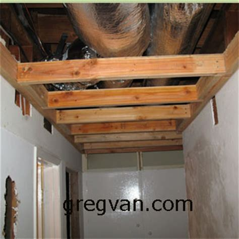 hanging drywall on ceiling joists installing ceiling joist
