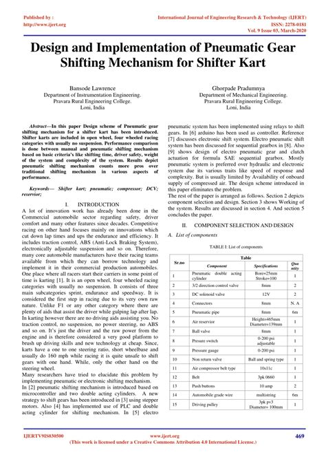 (PDF) Design and Implementation of Pneumatic Gear Shifting