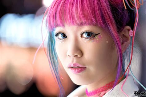 Harajuku Girl W Pink Blue Hair Galaxxxy Joyrich And Hair