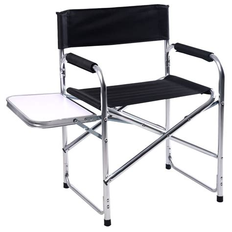 equipment cing aluminum folding chair with side table