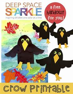 Crow Craft Template | Crafts, Shops and Deep space sparkle
