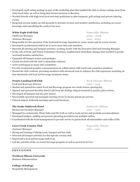 Golf Course Manager Resume by Michael Broderick Resume