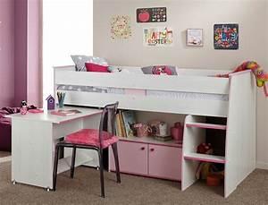 Hochbett 90x200 Weiß : hochbett zola 90x200 wei pink rosa kinderbett etagenbett kinderzimmer wohnbereiche schlafzimmer ~ Indierocktalk.com Haus und Dekorationen