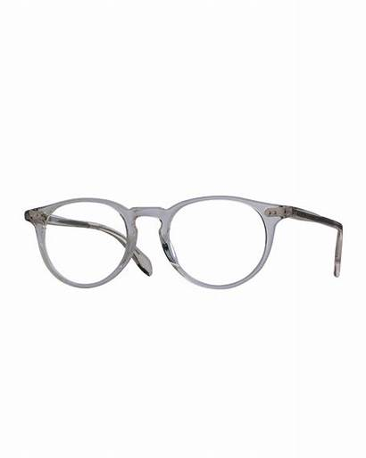 Riley Oliver Peoples Workman Eyeglasses Rounded Gray