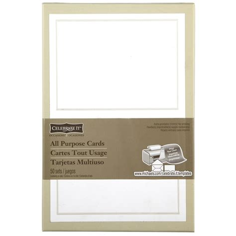 celebrate  occasions pearl white border response card