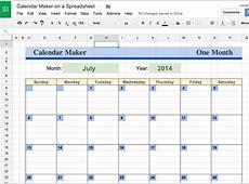 Calendar Template Google Sheets Templates Data