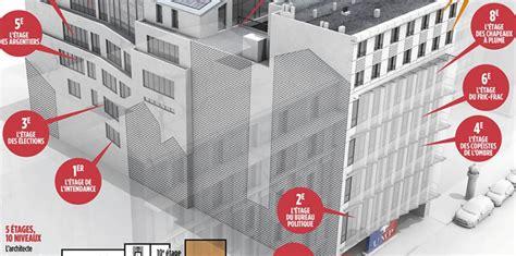 si e de l ump adresse infographie l 39 étage sarkozy l 39 étage copé visite