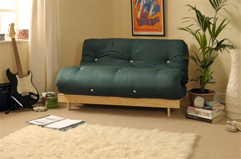 Wooden Frame Sofa Bed by 4ft Luxury Futon 2 Seater Wooden Frame Sofa Bed