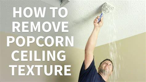 diy   remove popcorn ceiling texture