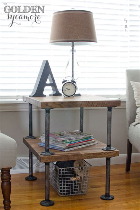 chic  easy diy industrial nightstands shelterness