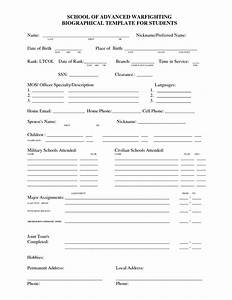 best photos of printable autobiography template With personal bio template free