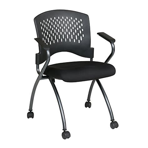 office folding chair with casters deluxe 34 h x 24 12