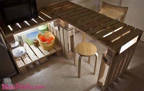 bancada de cozinha em pallet (5)Móveis de Paletes