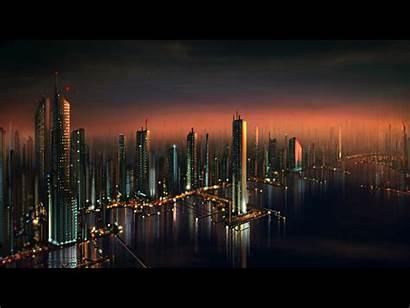 Future Wallpapers Cityscape Airage Futuristic Sfondi Fondos