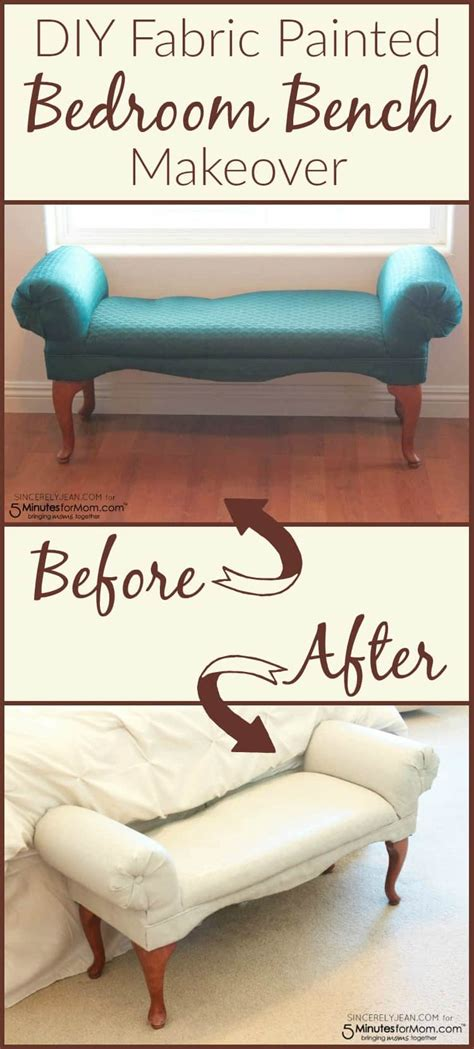 diy fabric painted bedroom bench sincerely jean